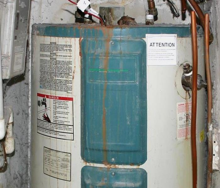 Water Heater Damage Repair Before and After  Before